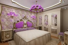 How to create a Luxurious Bedroom Dream Bedroom, Master Bedroom, Bedroom Decor, Luxury Bedroom Design, Interior Design, Bedroom Designs, Baroque Bedroom, Decoration Baroque, Deco Baroque