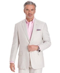 Classic Brooks Brothers Linen 2 Button Suit.....I tend to wear mine with a fresh pair of gleaming white adidas shelltoes....