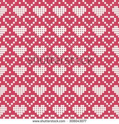 Stricken Ornamental Pattern For Knitting And Embroidery Heart Stock Photos, Images, & Pic. Knitting Charts, Knitting Stitches, Knitting Designs, Knitting Patterns, Embroidery Hearts, Cross Stitch Embroidery, Cross Stitch Patterns, Heart Patterns, Beading Patterns