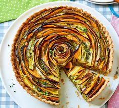 Summer vegetable & pesto rose tart