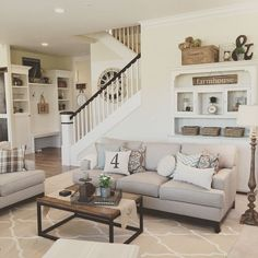 Elegant Oldime Farmhouse - Perfect for bustling family households, this rustic chic living room wins double points for its attractive but equally durable livability.