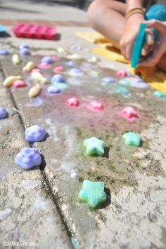 sizzling ice chalk kids activity