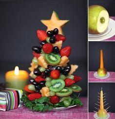 Xmas Party Fruit centre piece