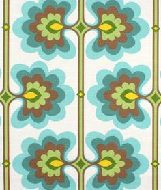 Shop HGTV Flower Tower Turquoise Fabric at onlinefabricstore.net for $17.3/ Yard. Best Price & Service.