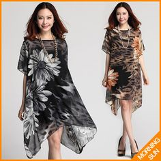 We love it and we know you also love it as well new arrival 2017 women summer casual korean boho sexy loose big flowers leopard print Irregular hem vestidos sarafan dress #231 just only $19.99 with free shipping worldwide  #womandresses Plese click on picture to see our special price for you
