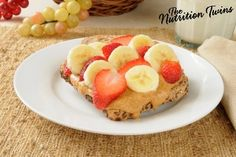 Peanut Butter, Strawberries and Banana | Only 210 Calories! | Guilt-Free Gooey Comfort Food! | For MORE RECIPES please SIGN UP for our FREE NEWSLETTER www.NutritionTwins.com