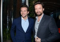 Bradley Cooper and Hugh Jackman at the 2013 BAFTA Award Season Tea Party at #FourSeasons Hotel Beverly Hills Jan 12, 2013 http://celebhotspots.com/hotspot/?hotspotid=23504&next=1