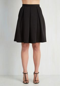 Adorably Yours Skirt in Black. Show off your sincerely charming style in this black skirt! #black #modcloth