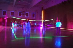 For my...daughter...wouldn't this be cool to do during your internship...black light volleyball.