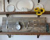 Rustic Vintage Silverware LOVE Sign