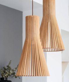 lampara-techo-pagoda-cerca Wood Pendant Light, Lamp Light, Industrial Design, Light Fixtures, Design Art, Sweet Home, Ceiling Lights, Lighting, Color