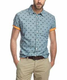 ESPRIT - Camisa regular fit de manga corta para hombre EUR 37,00