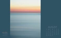 August 2016 Calendar - Abstract Beach Sunset August 2016 calendar featuring an abstract beach sunset photograph in blue and pink. Download yours for your desktop wallpaper.