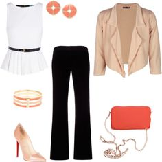 """Hint of peaches..."" by pennycollister on Polyvore"