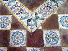 Floor tiles in Chapel of ST. Elmo, Naples