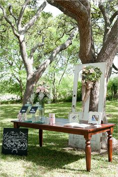 welcome guestbook table