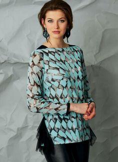 V1568   Misses' Top with Neckline and Hem Variations   Vogue Patterns