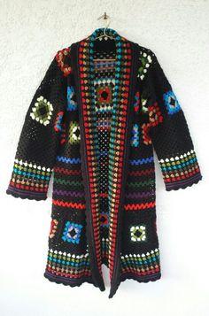 Crochet coatigan.