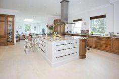 spacious two tone kitchen
