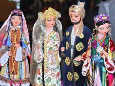 Dolls in national clothes. Uzbek souvenirs