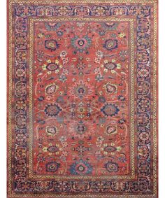 ANTIQUE PERSIAN MAHAL RUG - Antique Rugs - $12,000.00 - Carpet Culture | Rug Store in Manhattan | Carpet Cleaners - ON SALE!