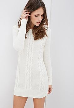 Forever 21 Cable Knit Sweater Dress