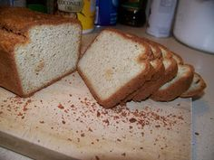 Ginny's Low Carb Kitchen: Almond-Flax Low Carb Gluten Free Quick Bread Ginny & # s Low Carb Kitchen: Amandel-Vlas Low Carb Glutenvrij Snel Brood Gluten Free Quick Bread, Grain Free Bread, Kefir, Low Carb Recipes, Cooking Recipes, Bread Recipes, Yummy Recipes, Almond Bread, Almond Flour