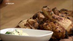 Κοτόπουλο με μπαχαρικά Pork, Meat, Chicken, Kale Stir Fry, Pigs, Pork Chops, Buffalo Chicken, Rooster