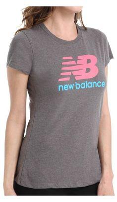 $25.95 - New Balance Women's Essentials Short Sleeve Tee Heather Grey # newbalance