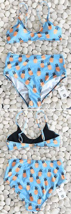 Short shipping time with Only $19.99~ Sailing to the ocean? This cute pineapple bikini set is exactly what you need. It's a new age for swimwear... You'll be the apple of everyone's eye when you spend your summer beach time in this baby.