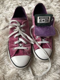 GIRLS CONVERSE CHUCK TAYLOR ALL STAR PINK VELVET OX TENNIS SHOES SNEAKERS  SIZE 4  fashion 472ca1dab