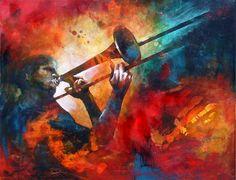 Marianne Morris #Art #Painting #Dancer #Music_Art