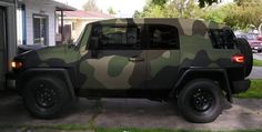 FJ Cruiser in large print camo, could definitely see Casper in multicam or the old BDU pattern