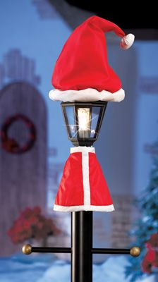 santa claus christmas lamp post outdoor decoration holiday ideas pinterest santa decoration and holidays