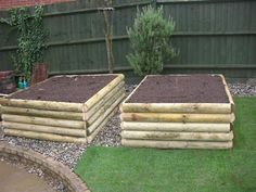These are nice big raised beds. Would love to make some for my garden.