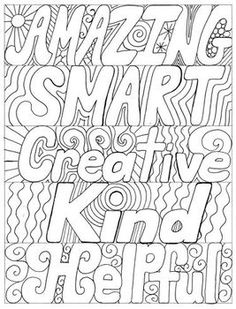 893 best words coloring pages for