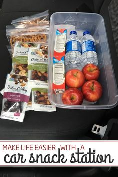 Genius Idea: Have a Car Snack Station - One Crazy House  #OVHsnacks #spon