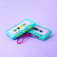 Technicolor Miniatures of Everyday Life Handcrafted in Paper - Cassette Tapes Fred Instagram, Paper Artwork, Jolie Photo, Maker, Retro Aesthetic, Retro Art, Graphic Design Typography, Cute Wallpapers, Diy Art