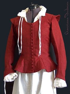 Wonderful 17th century toile jacket by American Duchess!