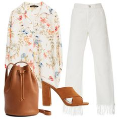 Denim Trend: Fringed Trim - When it comes to complementing the ubiquitous fringed trim, a heeled mule is the most flattering choice. Avoid anything with an ankle strap that will compete with this festive design element. Style with a pretty floral blouse and bucket bag to make this lookwork for casual Fridays.
