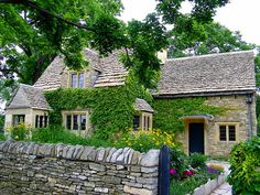 The Cotswold Cottage was built in the early in Chedworth, Gloucestershire, England. Henry Ford bought the cottage to include in Greenfield Village as an example of architecture that inspired building styles in America, and as a tribute to his Englis