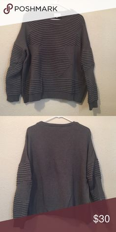 Urban Outfitters Sweater Awesome sweater only worn a few times! So comfortable! Loser fitting. 60% cotton, 40% acrylic. Brand is silence and noise. Accepting all reasonable offers but no trades! Urban Outfitters Sweaters Crew & Scoop Necks