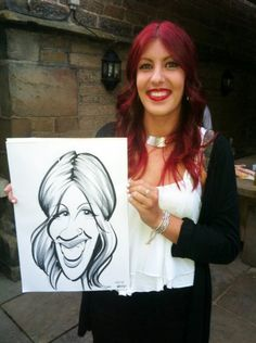 Wedding Caricaturist in Sheffield, hire the Wedding Artist to draw caricatures at Whitley Hall