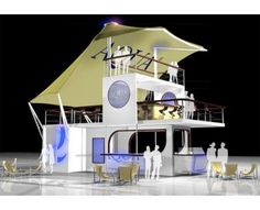 Pop-Up Shipping Container Nightclubs Aqua by Grandstand - Could be modified into a cool house