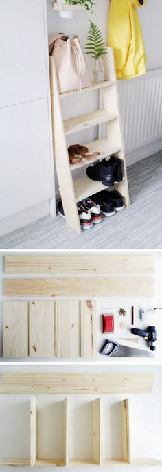 Check out how to build a DIY shoe storage ladder @istandarddesign