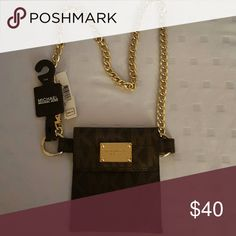 Belt Michael Kors Gold Chain Belt with a pouch.  Excellent condition Michael Kors Accessories Belts