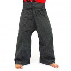 Thai pantalones mezcla de algodón - algodón - negro