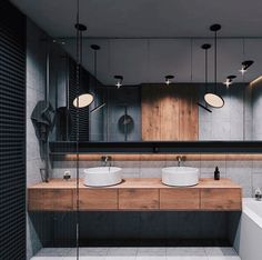 Home Inspiration // Beton Design Interior ideas The Perfect Scandinavian Style Home Double Sink Bathroom, Bathroom Sink Vanity, Modern Bathroom, Master Bathroom, Double Sinks, Bathroom Images, Bedroom Modern, Interior Minimalista, Bad Inspiration