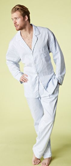 Bedhead Men's 3D Blue Stripe Fine Cotton Pajama $140 - SHOP http://www.thepajamacompany.com/store/18549.html?category_id=10905