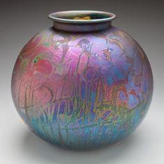 Australian potter Greg Daly, Wheel thrown, Silver bismuth, lustre glaze, 2010